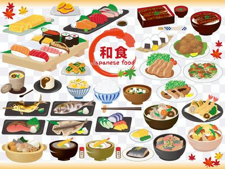 Japanese / Japanese food_assortment