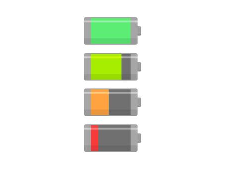 Charging icon set