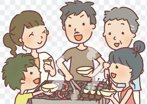 家族BBQ
