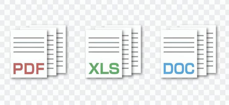 PDF, Excel, Word icon