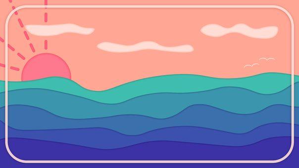 黃昏的大海的插圖
