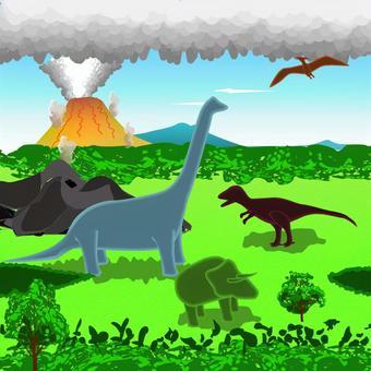 恐竜 白亜紀 昔 火山