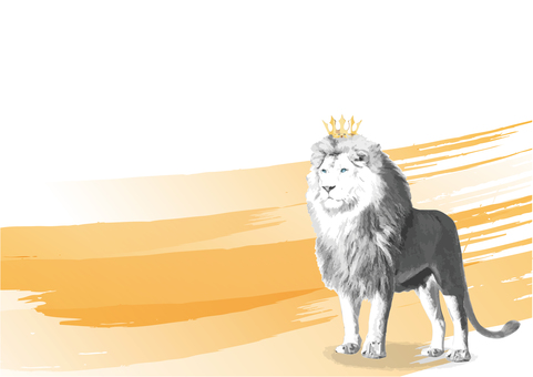 Crown White Lion King of Beasts