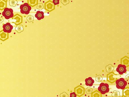 Golden red plum frame