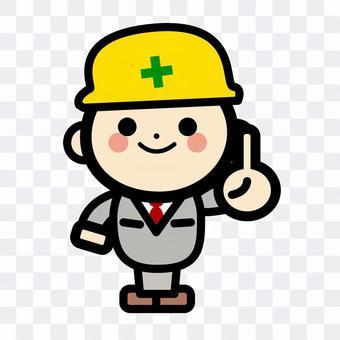 簡單的建築工人