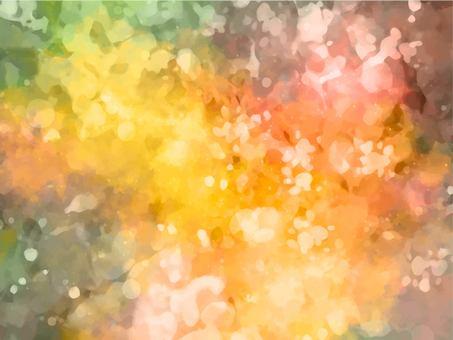 주황색과 초록색 반짝이 질감 배경