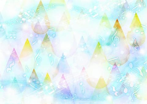 水彩風格滴和音符背景水平