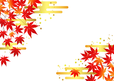 Normal version Autumn leaves and cloud background Horizontal transparency Yes