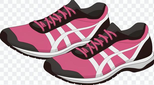 ジョギングシューズ ピンク