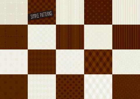 簡單圖案集棕色