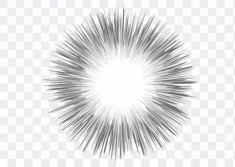 背景_濃縮線_黑白2