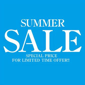 Summer SALE ☆ promotional flyer poster square