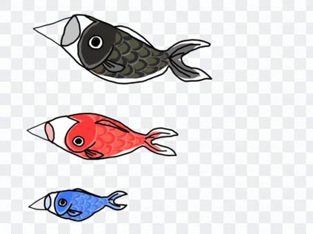 簡易鯉魚旗