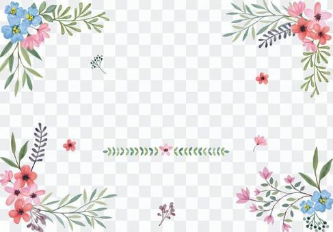 水彩花卉框架