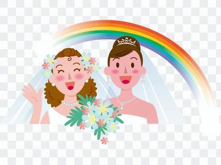 女性同士の結婚-虹3
