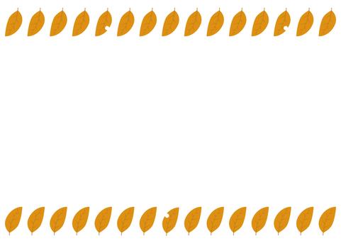11 : 테두리 (벌레 나뭇잎 노랑 상하)