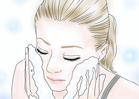 女性 洗顔 メイク落とし
