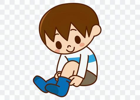 男孩沒有襪子