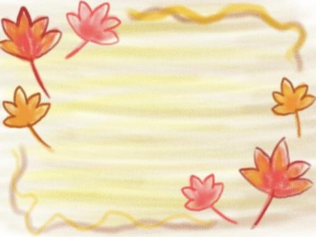 秋葉背景牆紙彩色鉛筆風格