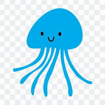 水母(蓝)