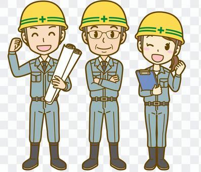 現場作業員:上司と従業員01FS