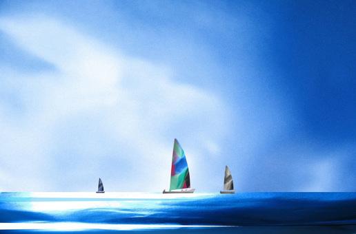 夏天的大海和遊艇