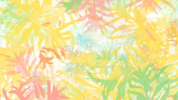 Background Botanical Plants Warm Yellow