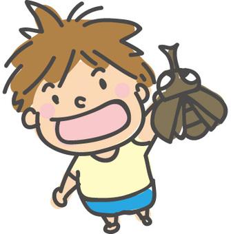 A boy beetle