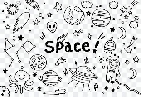 手描き宇宙ワールド