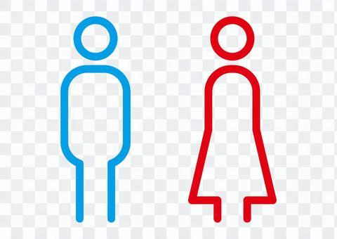 トイレマーク 男性 女性 性別