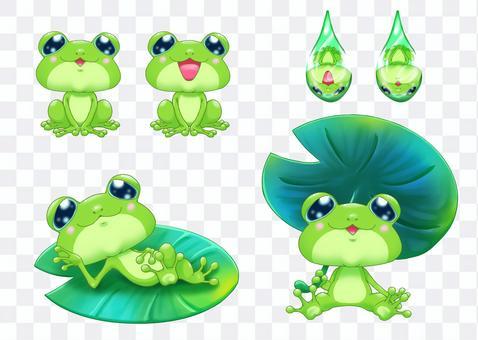 Creature illustration-Aogaeru set