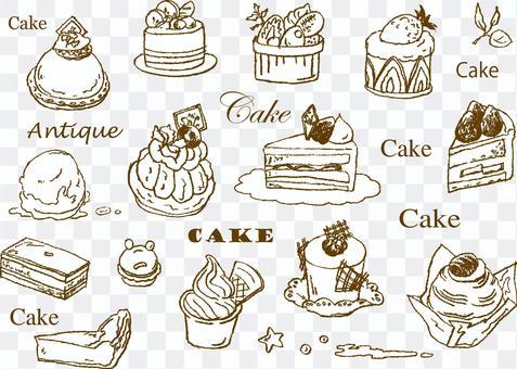 蛋糕手繪圖