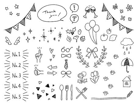 Cute handwritten decoration loose illustration