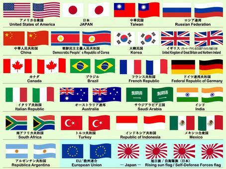 國旗設置_主要國家α