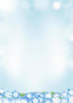 ネモフィラの背景イラスト02(水彩)