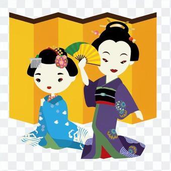 Geiko and Maiko's dance