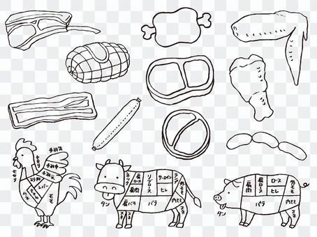 肉線圖畫的例證