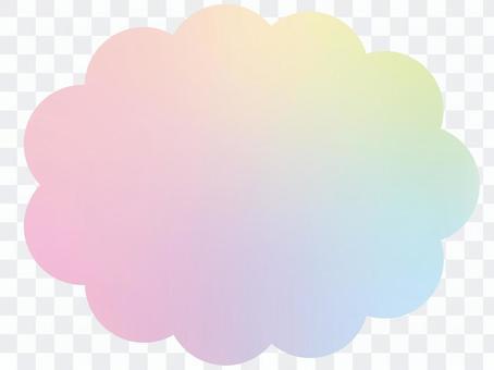 虹色の雲形フレーム