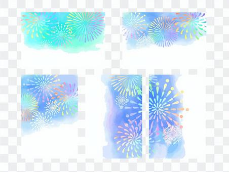 Fireworks card set
