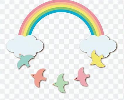 Birds over the rainbow
