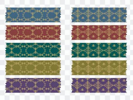 Elegant patterned masking tape