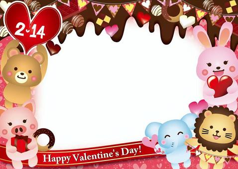 Valentine's day chocolate and animal cards