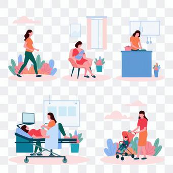 Pregnant woman's life