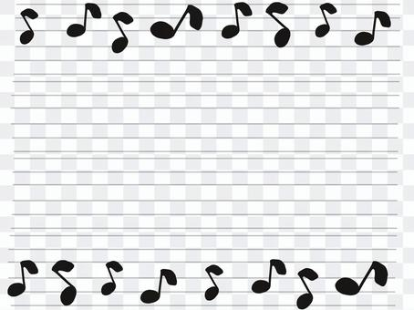 Sheet music message card black