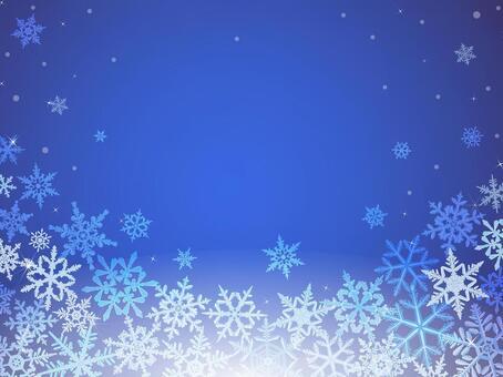 冬天背景·雪水晶·藍色