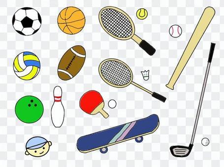 各種體育用品