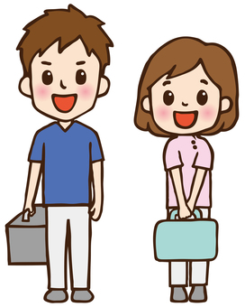 Home-visit medical doctor and nurse 02_ smile
