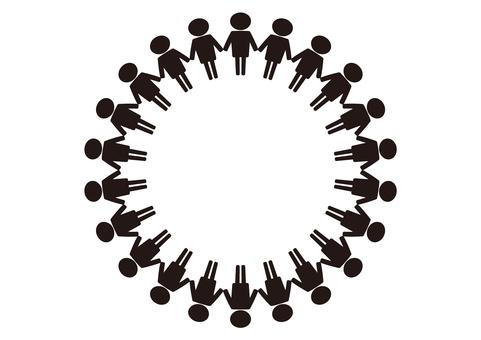 1. Frame (People / Diversity / Circle / Black)