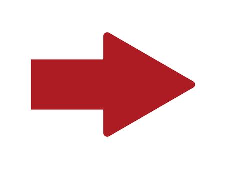 간단한 빨간색 화살표 아이콘