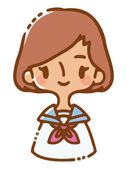 穿著水手服的女孩形象